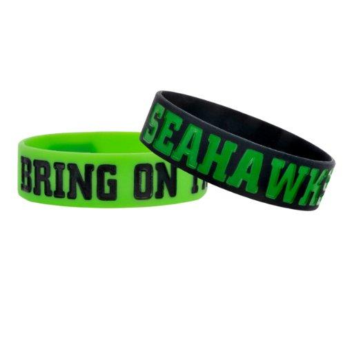 (Seattle Seahawks Bulk Bandz Bracelet 2 Pack)
