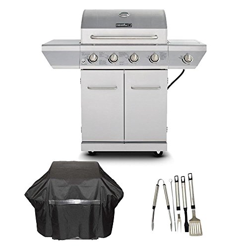 Nexgrill 4-Burner Propane Gas Grill in Stainless Steel with