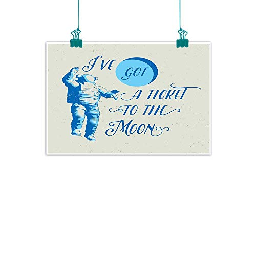 Warm Family Astronaut Living Room Decorative Painting Ive Got a Ticket to The Moon Astronaut Galaxy Celestial Journey into Space Modern Minimalist Atmosphere 28