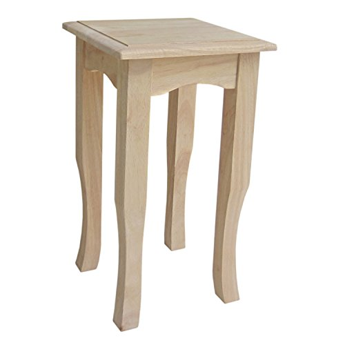 Cheap International Concepts TT21 21-Inch Tea Table, Unfinished