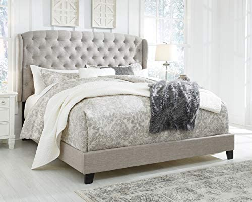 Signature Design By Ashley Jerary King Upholstered Tufted Wingback Bed Frame, Gray 41 2Bl8k3g16L