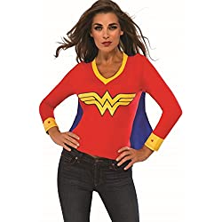 Rubie's Costume Co Women's DC Superheroes Wonder Woman Sporty Tee, Multi, Large