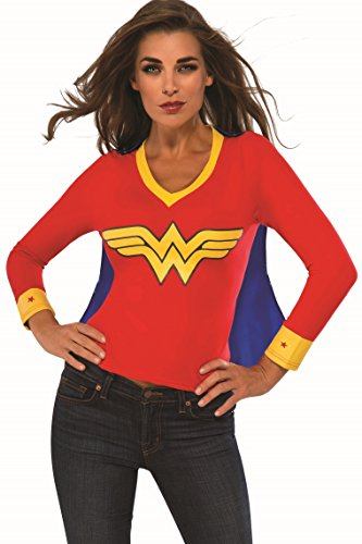 [Rubie's Costume Co Women's DC Superheroes Wonder Woman Sporty Tee, Multi, Large] (Halloween Costumes For The Family)