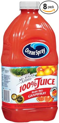 ocean spray ruby red grapefruit 100 juice 64ounce bottles pack of