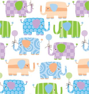Amazon Com Baby Elephants Gift Wrapping Roll 24 X 15 Baby
