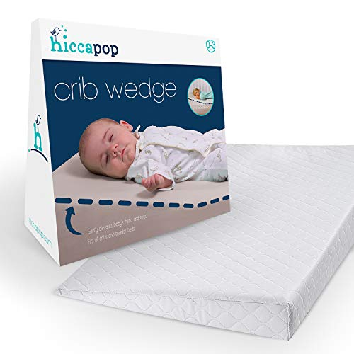 hiccapop Foldable Safe Lift Universal Crib Wedge for Baby Mattress and Sleep (Baby Wedge Crib)