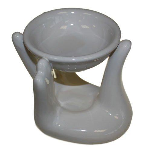 Helping Hand Oil Burner - White-CDES-01 TTG(AW) - General Giftware