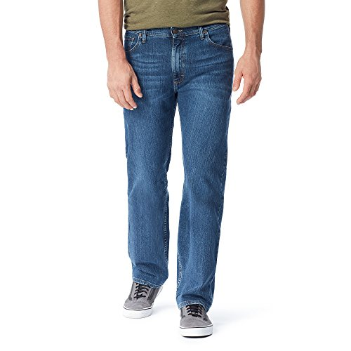 - Wrangler Authentics Men's Regular Fit Comfort Flex Waist Jean, Blue Ocean, 38x34