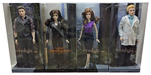 Twilight Bella-Esmee-Emmett & Carlisle Vampire Cullen Family Collector Set Barbie Pink Label Toy Doll Figure Collectible Movie Merchandise