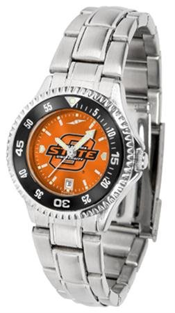(Oklahoma State Cowboys Competitor Steel AnoChrome Women's Watch - Color Bezel)
