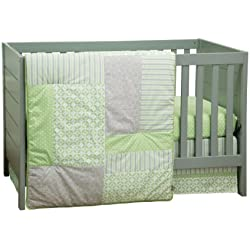 Trend Lab Lauren 3 Piece Crib Bedding Set, Green