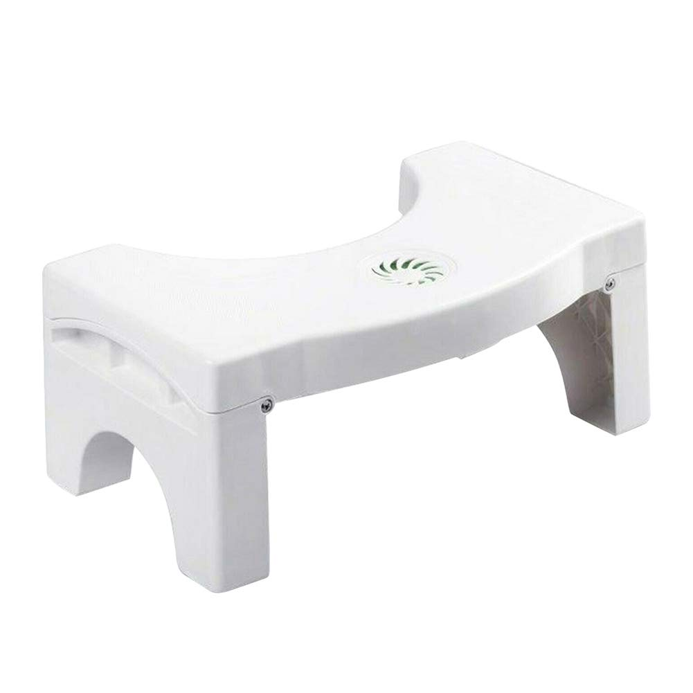 AMEOY Folding Multi-Function Toilet Stool Portable Step for Home Bathroom by AMEOY