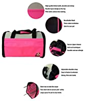 Reelok Portable Soft Sided Airline Approved Dog Carrier Pet Travel Bag Pet Home Comfortable Pink Carrier for Cats, Puppies and Small Animals