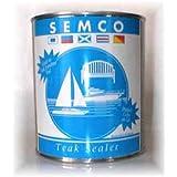 TeakStation Semco Teak Sealer 1 Gallon Natural Color Finish Sealant Protector