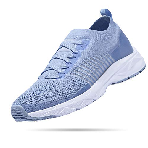 CAMELSPORTS Womens Running Shoes Breathable Mesh Athletic Gym Walking Shoes Size 5.5 Blue