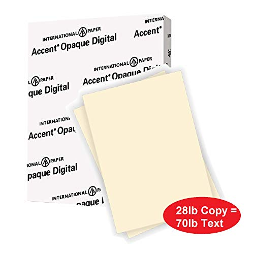 Accent Opaque Warm White Paper, 28lb / 70lb Paper Text, 104gsm, 8.5x11, 97 Bright, 1 Ream / 500 Sheets - Smooth, Text Heavy Paper (188176R) ()