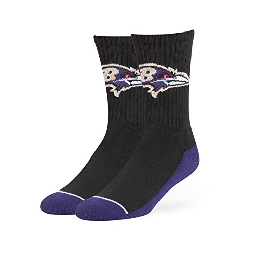 NFL Baltimore Ravens OTS Anthem Sport Sock, Black, -