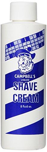 Liquid Shave Cream - Campell Soap Concentrate liquid Shave Cream, 8 Ounce