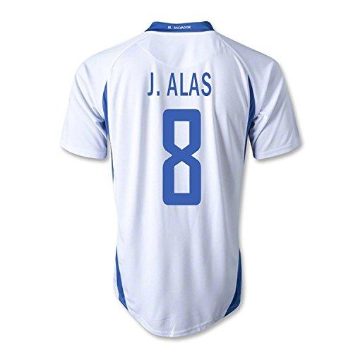 ジーンズ電気代数的Mitre J. Alas #8 El Salvador Away Soccer Jersey/サッカーユニフォーム エルサバドル アウェイ用 J. Alas 背番号8