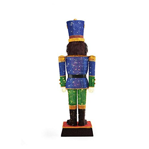 Home Accents Holiday 72 in. LED Tinsel Nutcracker and 5 ft. Pre-Lit Tinsel Nutcracker Soldier by Home Accents Holiday (Image #2)
