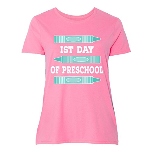 inktastic - 1st Day of Preschool Women's Plus Size T-Shirt 2 (18/20) Pink 30da2 ()