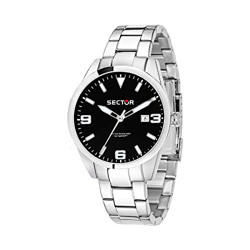 SECTOR Men's 245 Analog-Quartz Stainless-Steel Strap, Silver, 18 Casual Watch (Model: R3253486006