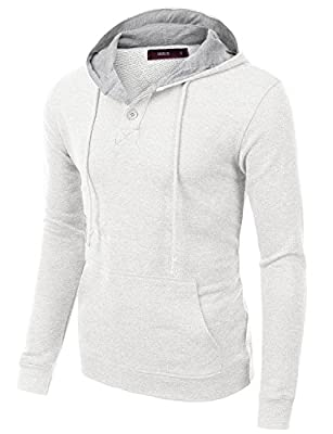 Doublju Mens Long Sleeve Pullover Fashion Hoodie