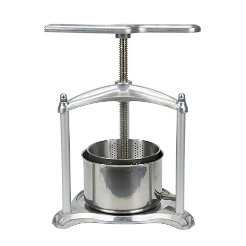 (EJWOX 0.8 Gallon Aluminum Soft Fruit Wine Press, Cheese Press Cherries Press Berries Press Herbal Press Tincture Press)