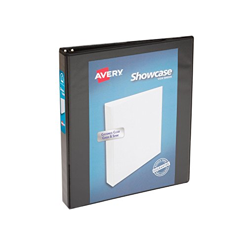 Avery Economy Showcase View Binder with 1-Inch Round Ring, Black, One Binder (19600) ()