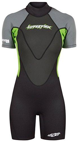 Hyperflex Mens Access Series - Hyperflex Wetsuits Women's Access 2.5 mm Back Zip Spring - (Green, 14)