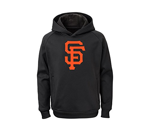 Outerstuff MLB Youth Team Color Performance Primary Logo Pullover Sweatshirt Hoodie (Small 8, San Francisco ()