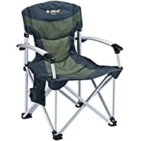 OZtrail Royale Armchair - Blue and Green