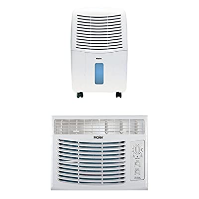 Haier 32-Pint Dehumidifier And Haier 5,100 BTU Window Air Conditioner Bundle