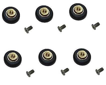 Ruedas con rodamientos para repuesto de mampara de ducha corrediza, 6 unidades, 16 mm