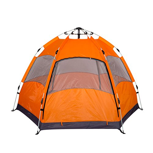 LW Instant Family Tent 3-5 Person Portable 3 Season Canopy Tent Automatic Waterproof Shelter Tent with Carry Bag for Outdoor Backpacking Picnic Hiking and Beach Fishing