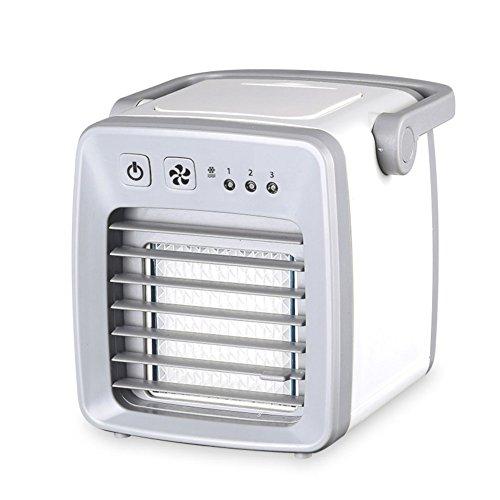 SL&LFJ Mini portable air conditioner fan,Chiller small air-conditioned dormitory usb student bed office portable silent air-conditioning fan-White 13x15cm(5x6inch) by SL&LFJ