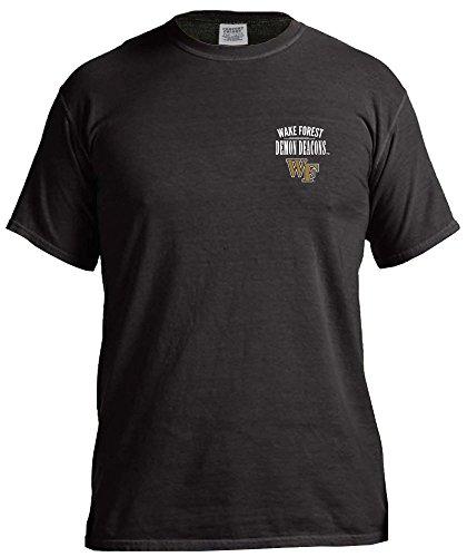 NCAA Wake Forest Demon Deacons Adult Unisex NCAA Limited Edition Comfort Color Short sleeve T-Shirt,XXL,Black