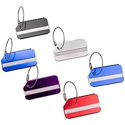 Vancool Metal Travel Luggage ID Tag,Baggage Labels Accessories,10 Pack