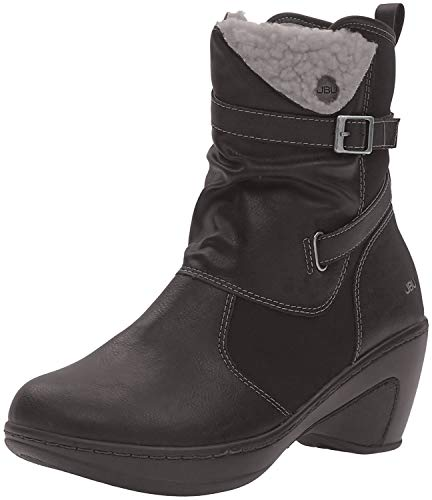 JBU by Jambu Women's Sandalwood Motorcycle Boot, Black, 6.5 M US (Sandalwood Height)