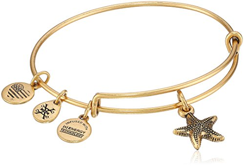 - Alex and Ani Starfish II Rafaelian Gold Bangle Bracelet