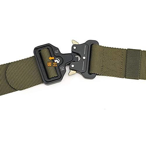 HeroStore Wide 4.3cm Nylon Metal Tactical Gear Heavy Duty Belts Padded Patrol Waist Outdoor Hiking Climbing Hunting Load Bearing Belt 20 by HeroStore (Image #5)