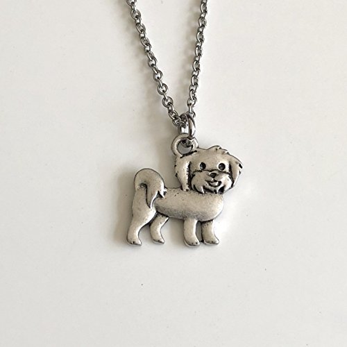 Maltese Dog Necklace - Maltipoo Dog Breed Jewelry - Gift for Dog Lover