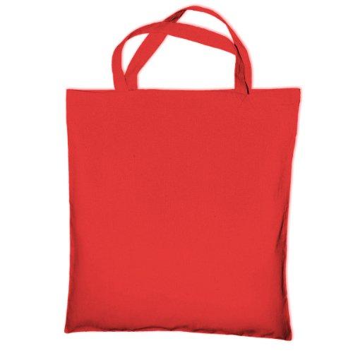 Bag Bags Handle Short Red Jassz Cotton Tote Shopping Cedar HYdwIHPnq1