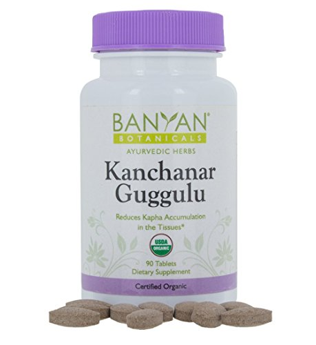 Banyan Botanicals Kanchanar Guggulu - Certified Organic, 90 Tablets - Reduces Kapha Accumulation in Tissues