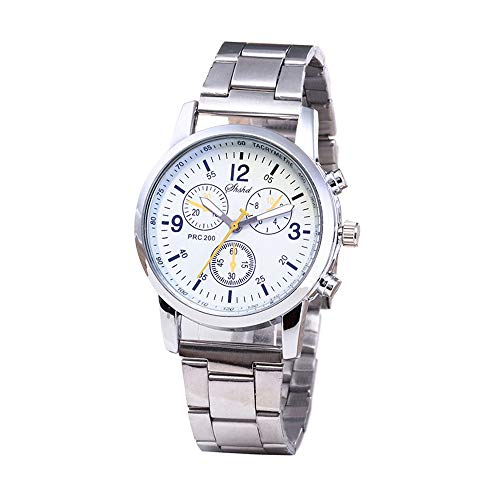 Valentine's Best Gift!!!Kacowpper Fashion Neutral Quartz Analog Wristwatch Steel Band Watch ()