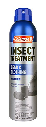 Coleman Gear and Clothing Permethrin Insect Repellent Aerosol, 6 Ounce