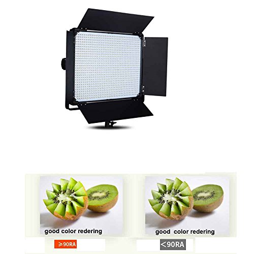 Yidoblo E-2000 Daylight LED Continuous Photography Light Panel, 140W 11000 Lumen Photo Studio Video Film Lighting With Remote Control, Barndoor and Carrying Bag (Fluorescent Light Tube Unit)