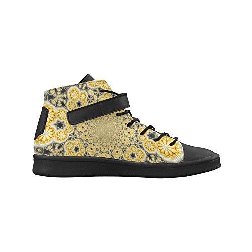 Artsadd Yellow Sunburst Ronde Neus Damesschoenen Boost Sneaker