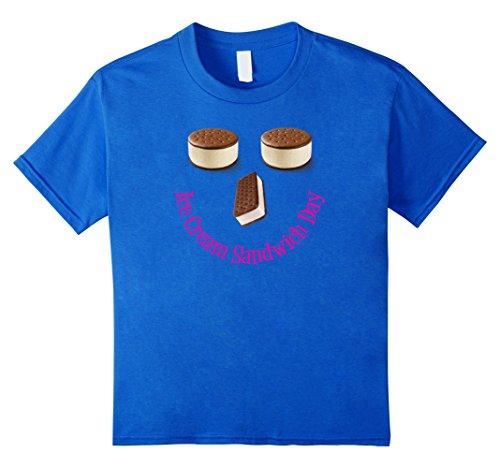 unisex-child National Ice Cream Sandwich Day Fun Snack Food Shirt 6 Royal Blue