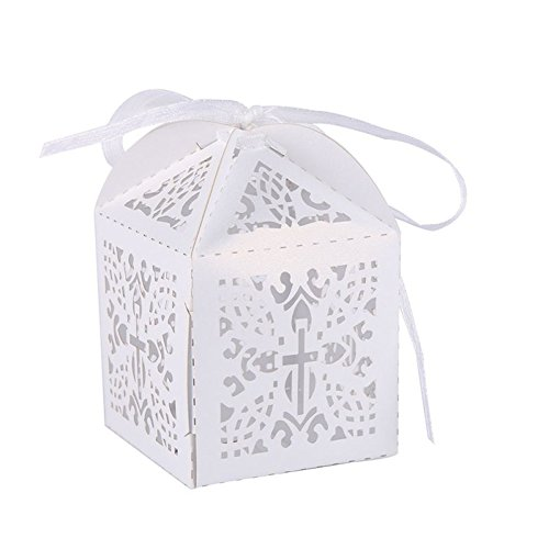 - Smartcoco 10Pcs Hollow Design Wedding Favors Candy Chocolate Gift Box Party Supplies Marriage Decoration